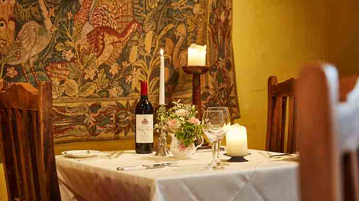 A la Carte Dinner for Two at Bailiffscourt