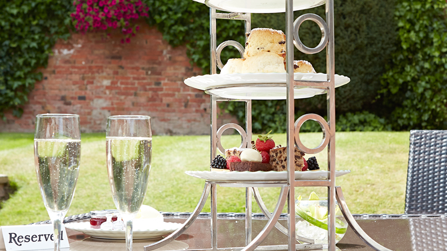 Champagne afternoon tea for two