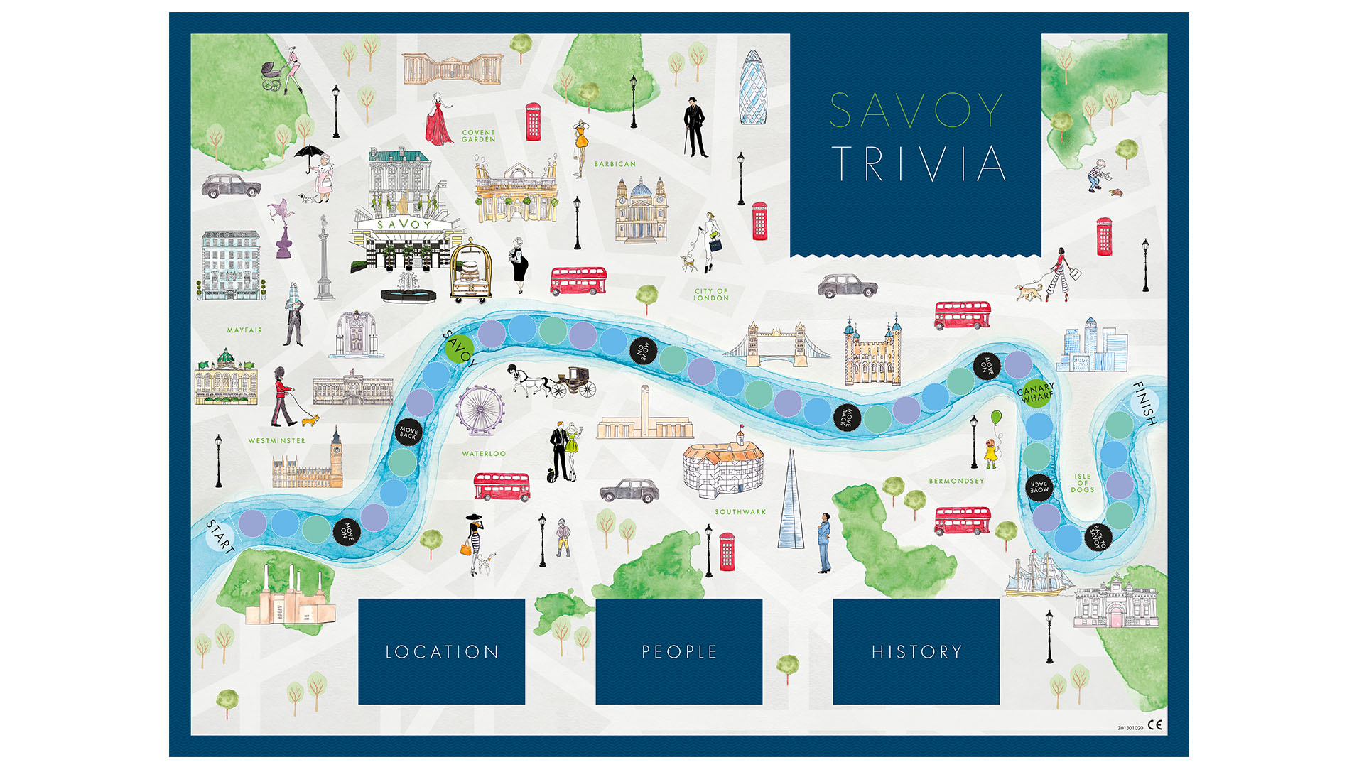 Savoy Trivia - The Savoy Board Game